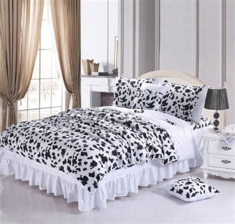 cute black and white comforters buy diaidi home textile black and white bedding set cow