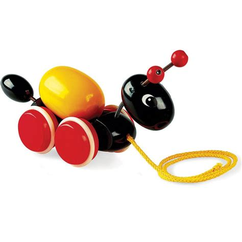 brio pull along brio pull along ant with egg 30367 table mountain toys