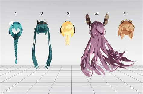 hair mmd download mmd random hair pack download by xxdesolatexmaskxx