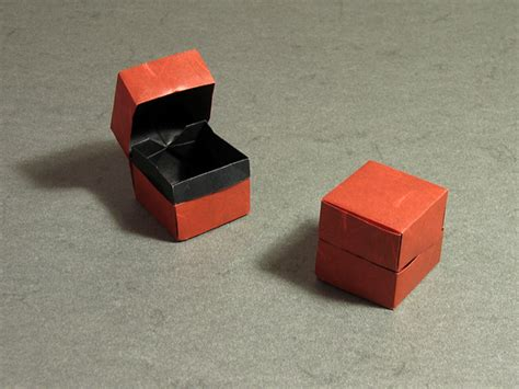Origami Box With Attached Lid - origami box with lid