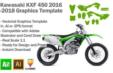 kawasaki kxf 450 mx motocross 2016 2017 2018 graphics