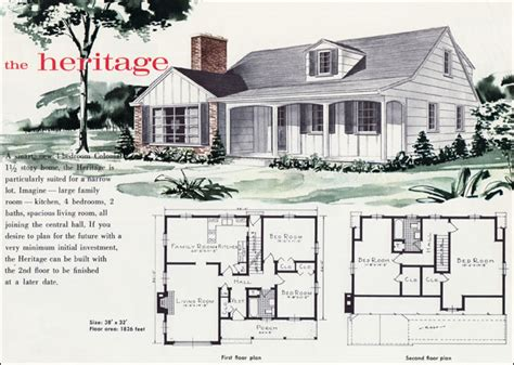 1960 Mid Century Colonial The Heritage Liberty Ready 1960 S Home Plans