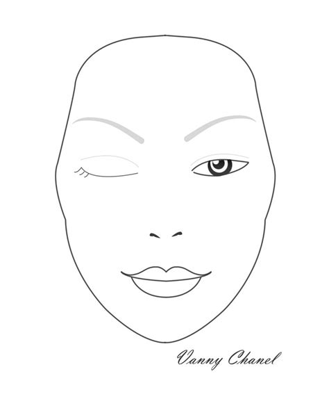 36 Best Images About Face Chart On Pinterest Watercolor Paper Makeup Face Charts And Template Makeup Chart Template