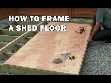 How To Frame A Floor For A Shed by How To Build A Shed How To Frame A Wood Floor 3