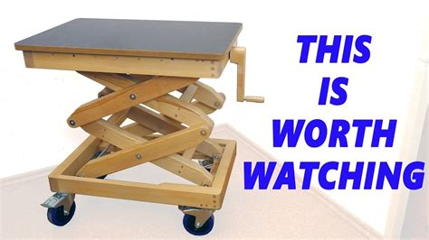 homemade wooden lifting table youtube