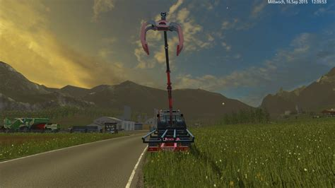 stepa forage platform trailer   fs  farming simulator   mod