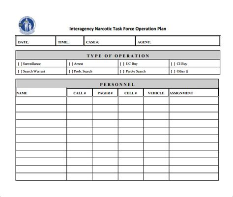 Operational Plan Template Template Business Event Operations Plan Template