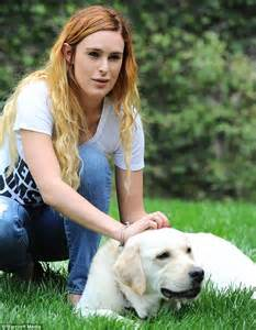 Rumer willis bonds with a cute dog as she enjoys great outdoors after