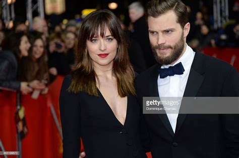 fifty shades of grey film actors actress dakota johnson and actor jamie dornan attend the