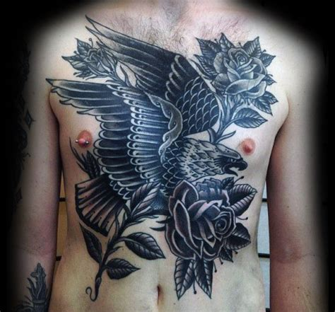 sea eagle tattoo designs 51 amazing traditional chest ideas on chest