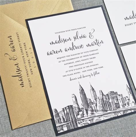 Wedding Anniversary Ideas Nyc by Wedding Invitations Nyc Wedding Ideas Vhlending