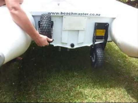 boat with wheels video boat wheels beachmaster autolock 1 youtube