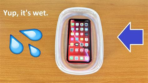 iphone xr water test is it water resistant