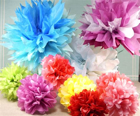 Of Flowers With Paper - tissue paper flowers