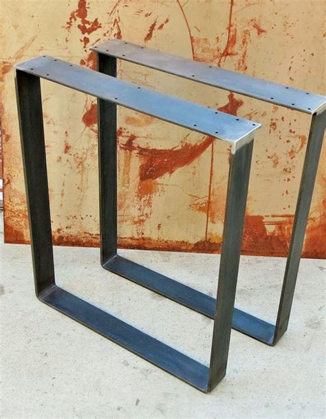 Flat Bar Table Legs Metal Table Legs Flat Bar Squared Flats Awesome And Bar Tops