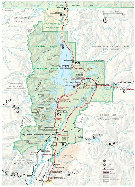 grand map park grand teton national park map map2