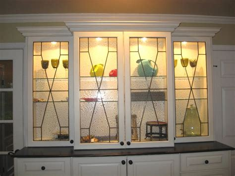 stained glass kitchen cabinets custom leaded beveled glass kitchen cabinet panels