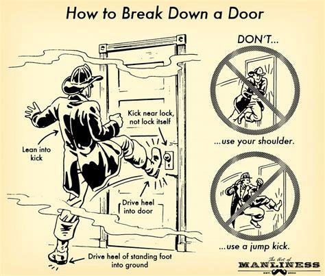 how to break into a bedroom door lock how to break down a door its tactical