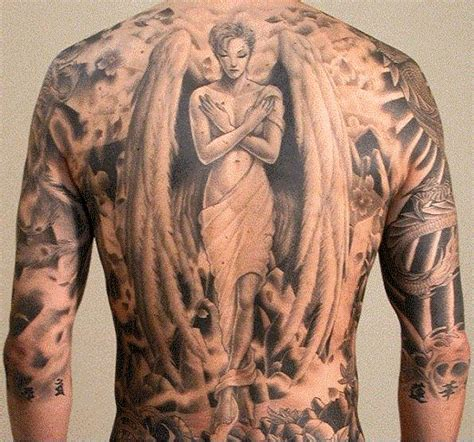 angel tattoo at the back breathtaking angel tatoos best tattoo 2015 designs and