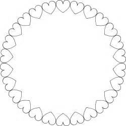 round heart frame coloring pages coloring pages