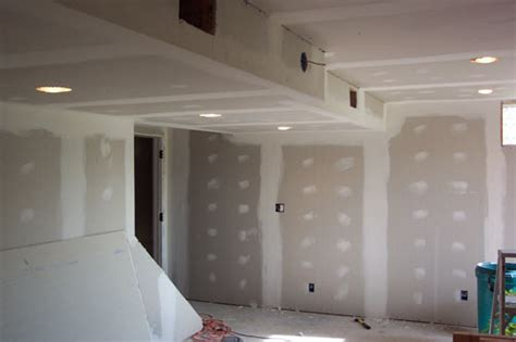 drywall in basement basement