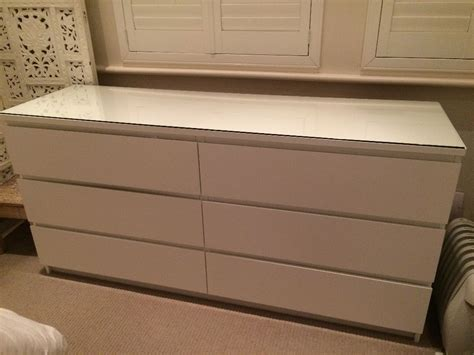6 drawer chest of drawers gumtree ikea malm 6 drawer chest of drawers with glass top in
