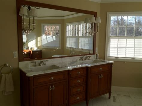 bathroom vanity with dressing table cherry vanity and dressing table traditional bathroom
