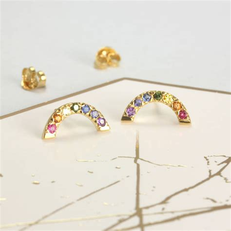 Rainbow Ear Stud rainbow stud earrings by reinhardt jewellery
