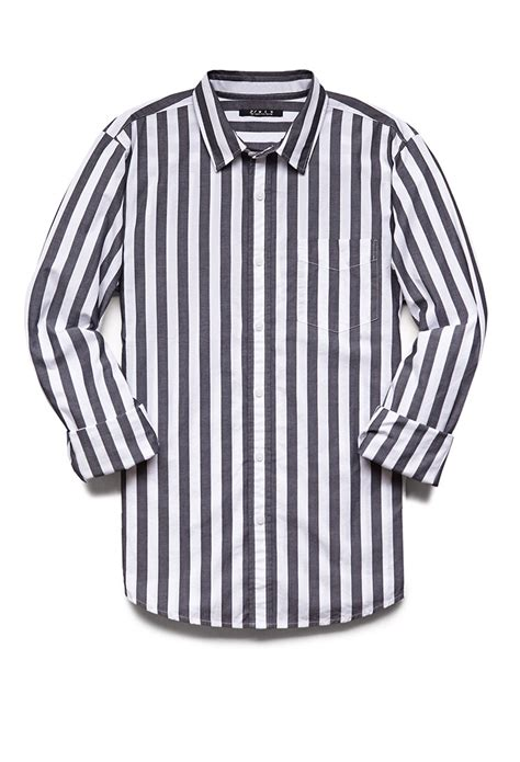 Classic Striped Shirts by Lyst Forever 21 Vertical Striped Classic Fit Shirt In