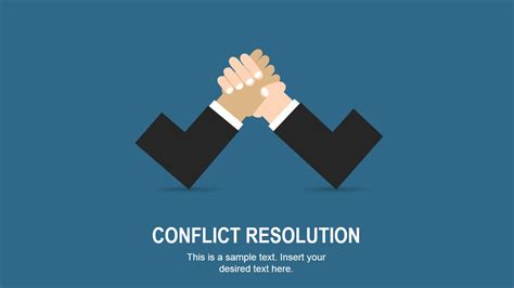 conflict resolution slides for powerpoint slidemodel