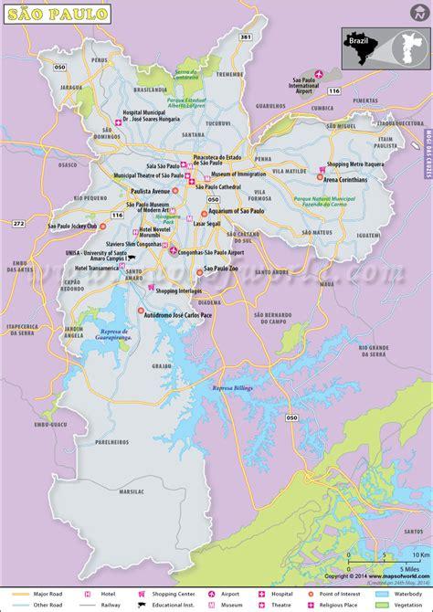 sao paulo on world map pin brazil map world on