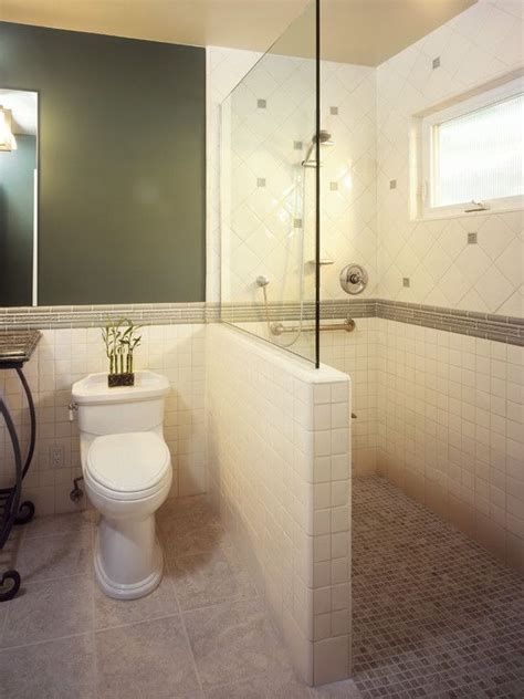 bloombety bathroom decorating ideas pictures with wall 44 best half wall showers images on pinterest bathroom