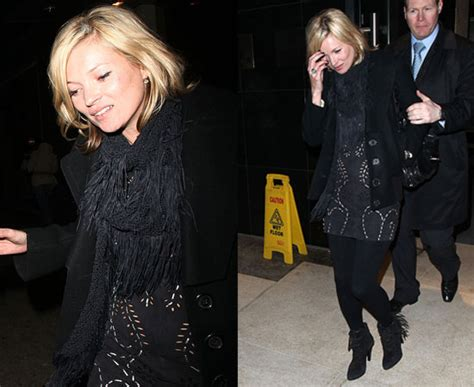 Richie Hides Bump In Kate Moss For Topshop by Come Or Shine A Scarf Is All You Need Simpkin