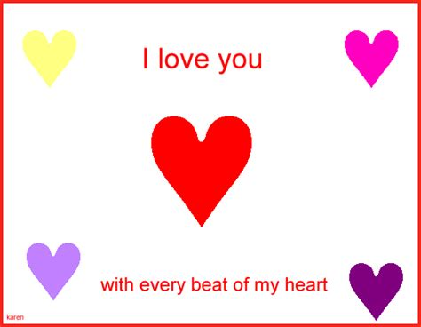 Love Heart Pictures Pictures Of Hearts That Say I You To Color