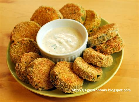 j s gastronomy oven quot fried quot zucchini with lowfat buttermilk ranch