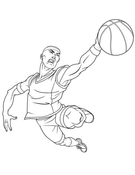 free basketball slam dunk coloring pages