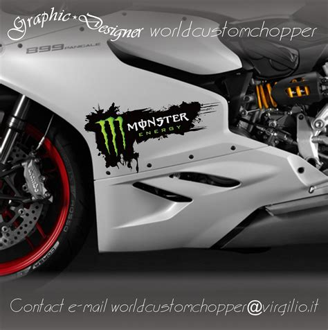 Auto Sticker Monster Energy by 2 Stickers Monster Energy Cod As194