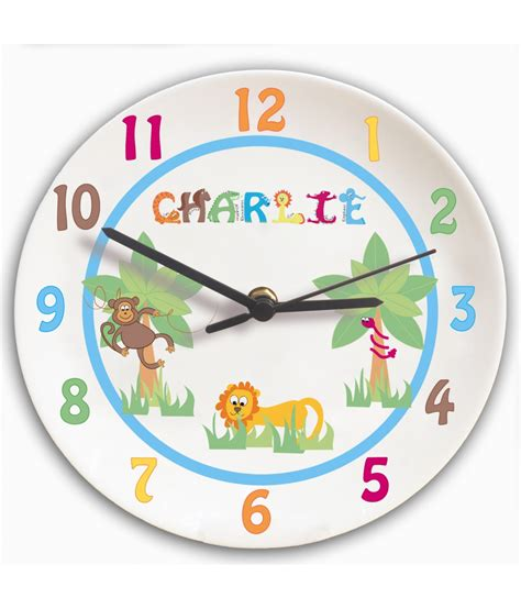boys bedroom clock personalised clock for boys bedroom animal alphabet just for gifts