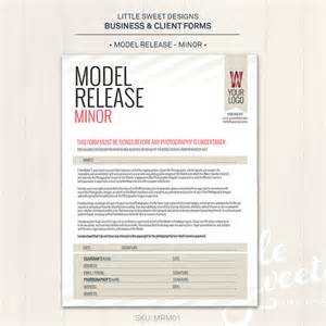 photography model release form minor photoshop template