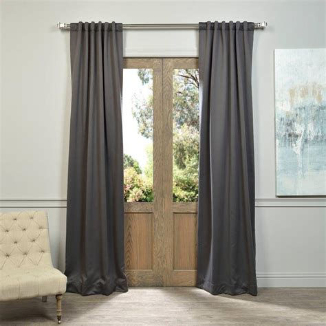 50 x 96 curtains exclusive fabrics furnishings semi opaque anthracite