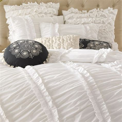 Clara Ruffle custom order clara white ruffled duvet cover set custom
