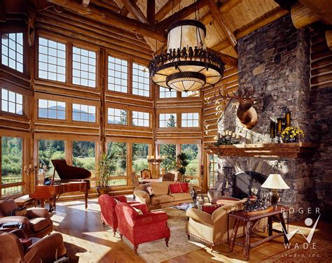 Log Homes Interiors Benvenutiallangolo Luxury Cabin Interior Images