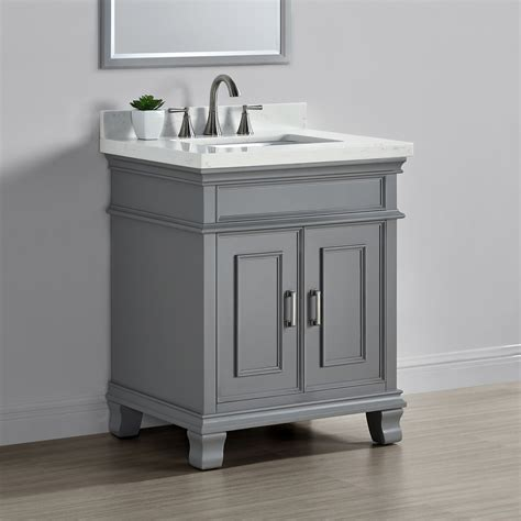 middleton 28 quot single sink vanity gray mission