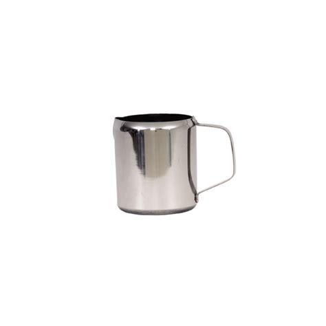 Creamer Jug Stainless Steel 90 Ml 3 Oz genware stainless steel milk jug 300ml 10oz crosbys