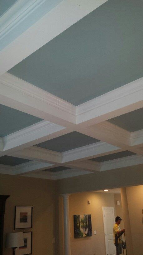 coffered ceiling paint ideas coffered ceiling with contrast paint for the home