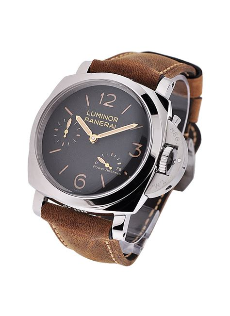 Luminor Panerai Power Reserve Silver Brown pam00423 panerai luminor base curent models essential watches