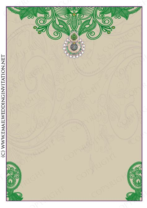 single image email wedding card template 3 jewelled