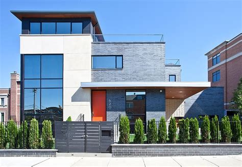 modern house nearby lake michigan with a sense of