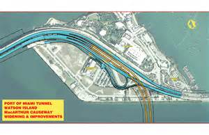 Miami Toll Roads Map by Image Gallery Image Gallery Port Of Miami Tunnel