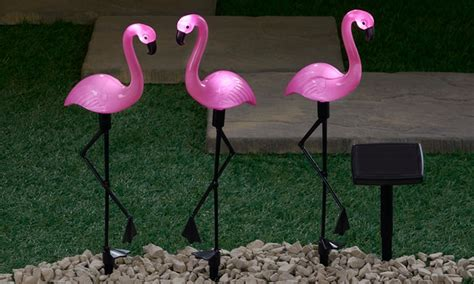solar light up flamingo groupon